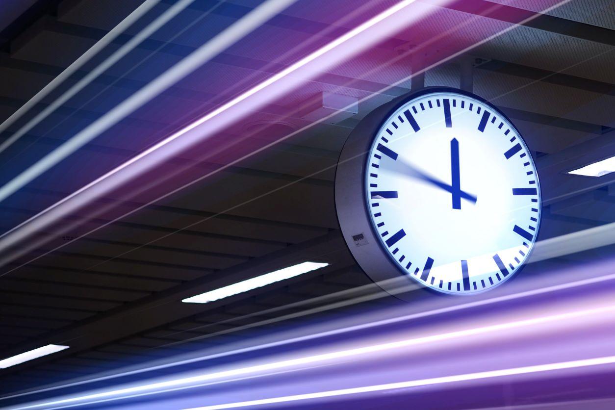 11Hanging clock in subway station
