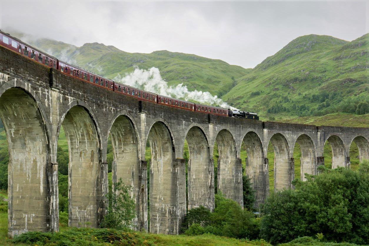 11Old stone bridge with train crossing