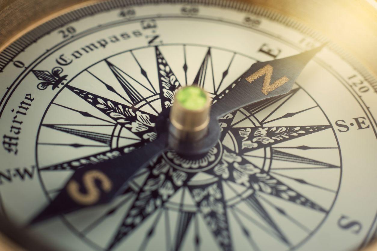 11Close up of compass face